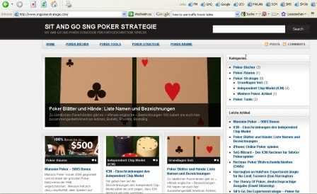 Neues Design von SnG Poker Strategie