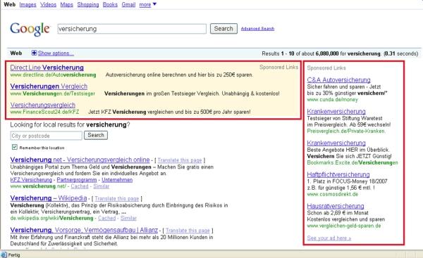 google-versicherung